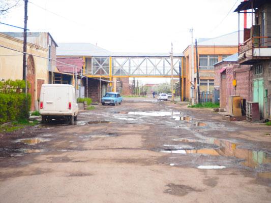 Strasse zum Hostel in der zweitgrössten Stadt