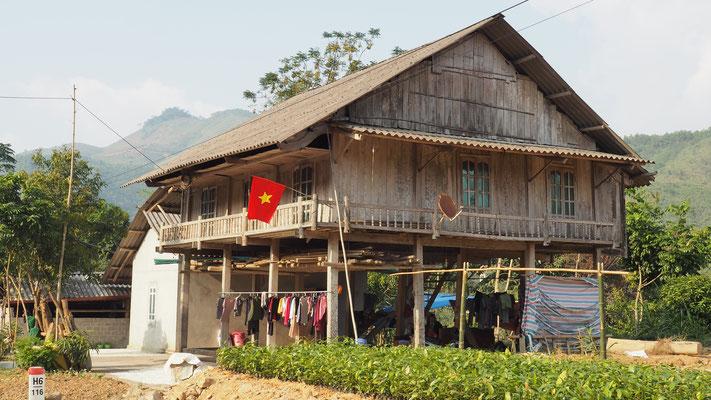 typisches Haus in den Bergen