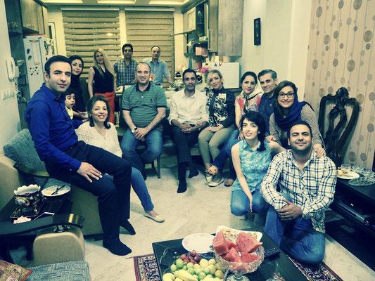 Bei Sam und seiner Familie in Teheran - Hauseinweihungsparty