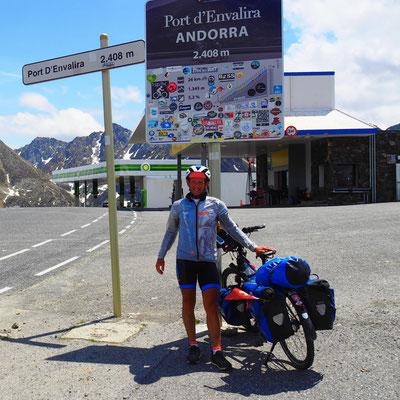 Grenze Andorra nach Frankreich