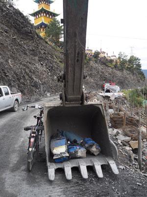 Überbrückung Baustelle