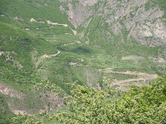 Da ging es hoch nach Tatev
