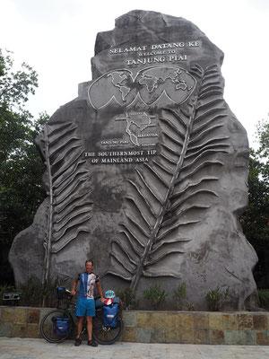 Denkmal südlichster Punkt Asiens