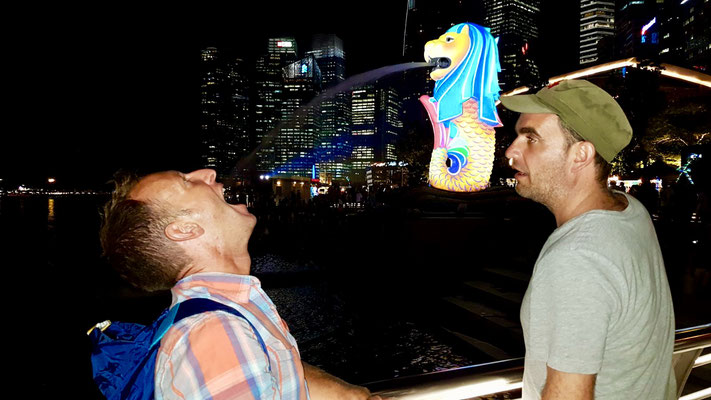 "Spass beim ""Merlion"""