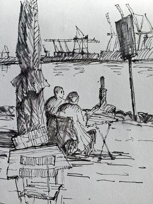 Gäste der `Strandperle`