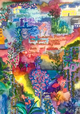 Luz, Watercolors, 24 x 17 cm