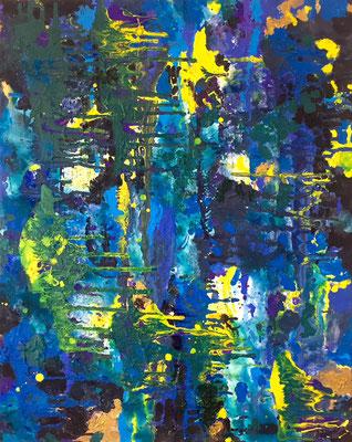 Untitled, Acrylics on Canvas, 70 x 45 cm