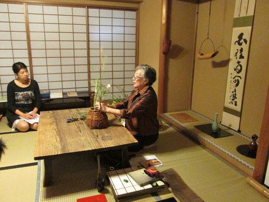 五藤宗紫先生による講義、デモンストレーション