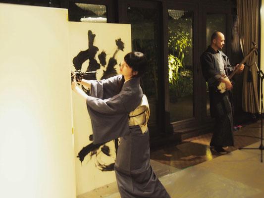 3月16日 名古屋・The Kawabun 東京月桃三味線 × 書道家 万美