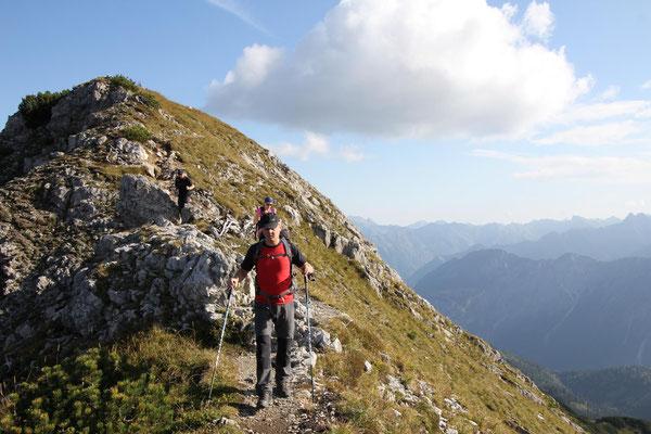 Gratwanderung zur Walser Hammerspitze