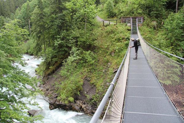 Hängebrücke über die Breitach