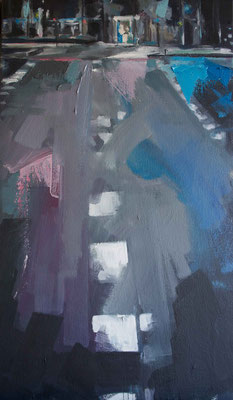 """""""At night"""" 46 x 21 cm   Oil on canvas   2011"""