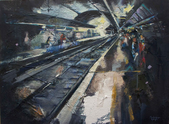 """Train station"" 60 x 80 cm 