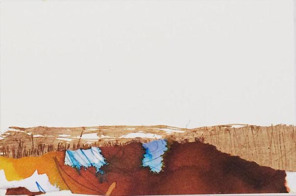 """Lanzarote 3""   Mixed media on carton board   8 x 12 cm   2017"