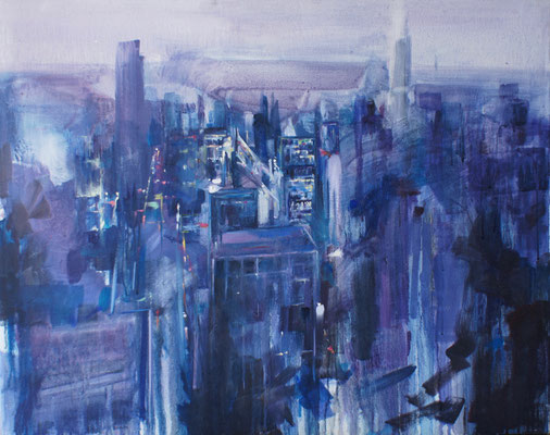 The city | 65 x 81 cm | Oil on canvas | 2009