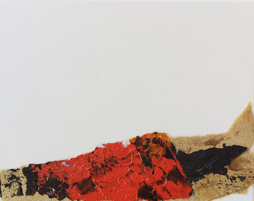 """Timanfaya Vulcano 3"" | Mixed Media on carton board | 8 x 10 cm | 2017"
