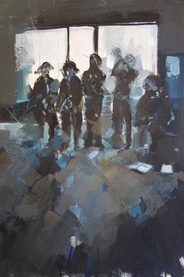 """Musicians"" 65 x 50 cm   Oil on paper   2011"