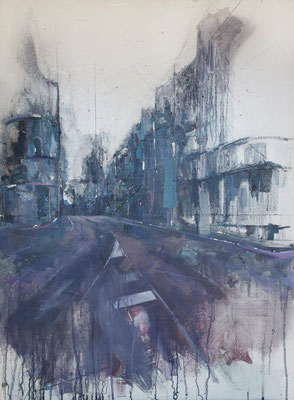 """City (interpreting A. López)"" 80 x 60 cm 