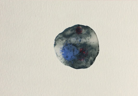 Resin Abstract N.9 | 14 x 20 cm | Mixed Media on Cardboard