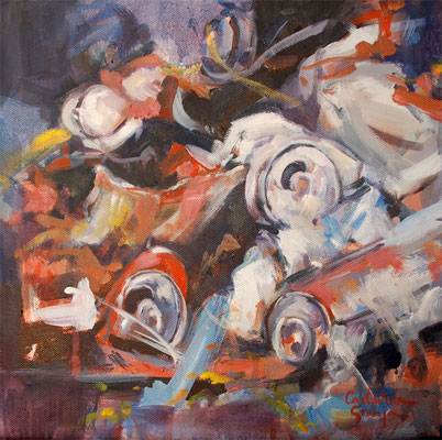 What is waste collection. Cans 2 | 30 x 30 cm | Oil on canvas | 2009