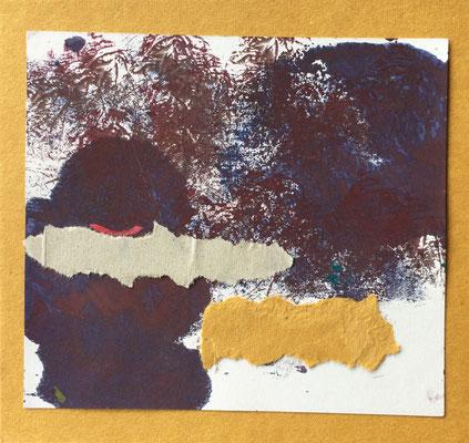 """Menorca N. 7"" | Mixed Media on carton board | 15 x 14,4 cm | 2017"