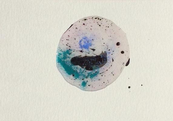 Resin Abstract N.7 | 14 x 20 cm | Mixed Media on Cardboard