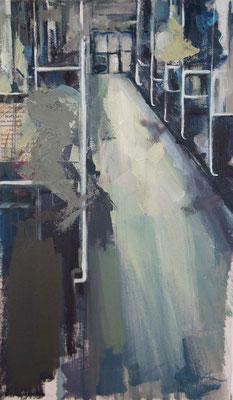 """Metro at night"" 46 x 21 cm   Oil on canvas   2011"