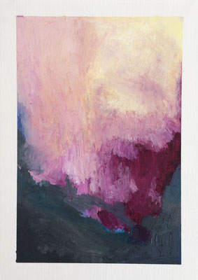 """Untitled n.25"" | 21 x 29,7 cm | Oil pastels on oil paper | 2019"