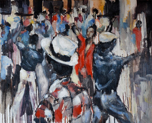 Dancing in the street | 60 x 73 cm | Oil on canvas | 2008