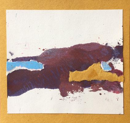 """Menorca N. 3"" | Mixed Media on carton board | 15 x 14,4 cm | 2017"