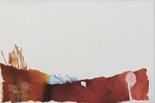 """Lanzarote 4""   Mixed media on carton board   8 x 12 cm   2017"