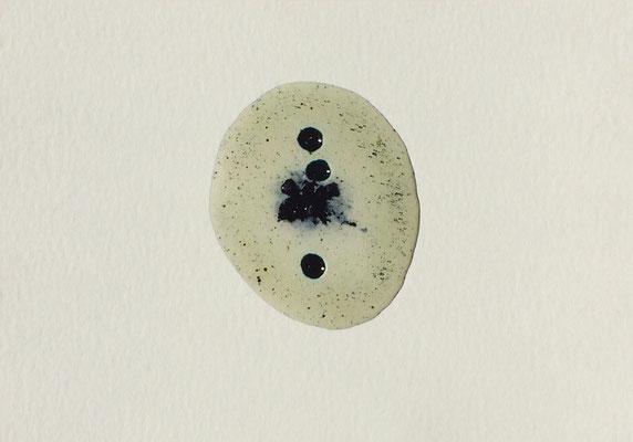 Resin Abstract N.16 | 14 x 20 cm | Mixed Media on Cardboard