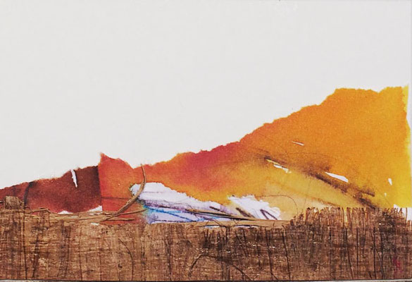 """Lanzarote 2"" | Mixed media on carton board | 8 x 12 cm | 2017"