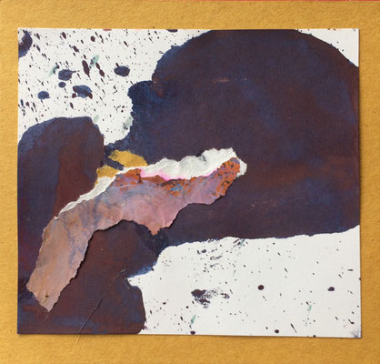 """Menorca N. 6"" | Mixed Media on carton board | 15 x 14,4 cm | 2017"