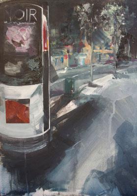 """""""Noir"""" 42 x 29,7 cm   Oil on paper   2011"""