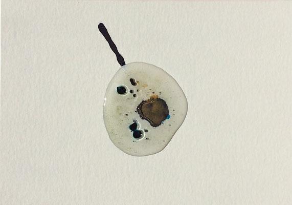 Resin Abstract N.10 | 14 x 20 cm | Mixed Media on Cardboard