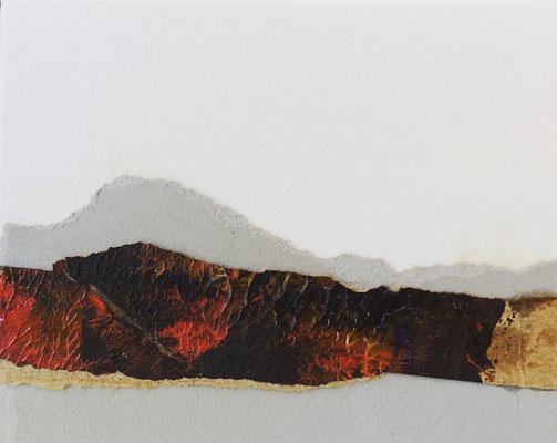 """Timanfaya Vulcano 2"" | Mixed Media on carton board | 8 x 10 cm | 2017"