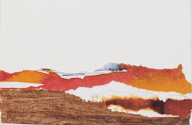 """Lanzarote 1"" | Mixed media on carton board | 8 x 12 cm | 2017"