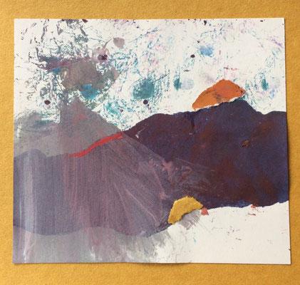 """Menorca N. 4"" | Mixed Media on carton board | 15 x 14,4 cm | 2017"