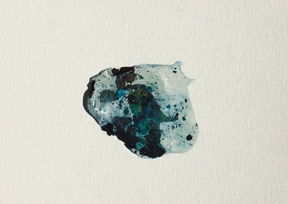 Resin Abstract N.2 | 14 x 20 cm | Mixed Media on Cardboard
