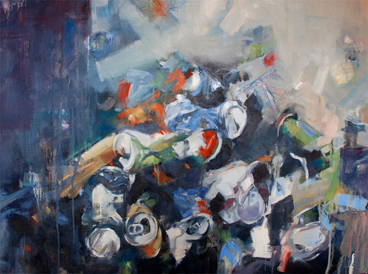 What is waste collection. The cemetery | 54 x 73 cm | Oil on canvas | 2009