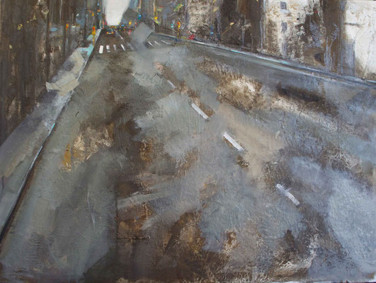 """Carrer en ocres i grisos"" 60 x 80 cm 