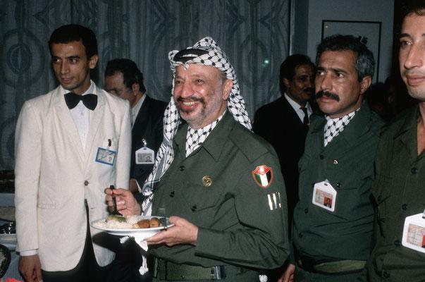 Jassir Arafat, Palästinensischer Nationalrat,  Algier 1988 © Heike Wolters-Wrase
