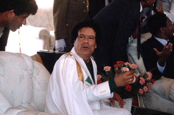 Muammar al-Gaddafi, Revolutionsfeier, Tripolis/Libyen 1989 © Heike Wolters-Wrase