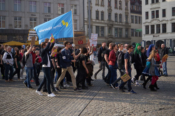 © Günter Wolters, Demo in Leipzig