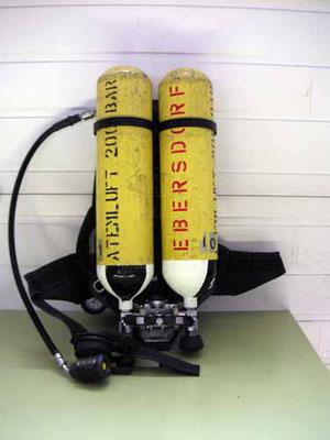 Atemschutzgeräte neu: Pressluftatmer BD 96 | Hersteller: MSA Auer, Baujahr: 2007, Menge: 3 Stk., Einsatzgebiet: Menschenrettung Brandeinsatz und Gärgaskeller, Innenangriff Brandeinsatz