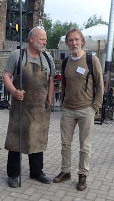 Hoher Besuch. Rüdiger Schwenk und Eckhard Zurheide