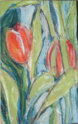 Drieluik voorjaarsbloemen rechts