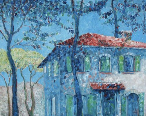 Toscaanse Villa 40x50