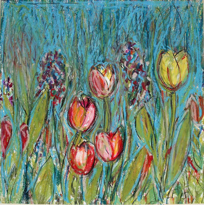 Tulpen in de tuin    2015,  verkocht
